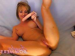 Babe, Blonde, Masturbation, Webcam