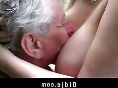 Grosse Boobs, Blondine, Blowjob, Alt Und Jung