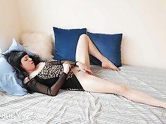 Amateur, Brunette, Masturbation, Small Tits