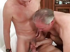 Old Bisexual Business Man Pleases Couple