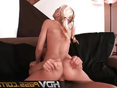 Blonde, Blowjob, Facial, Hardcore