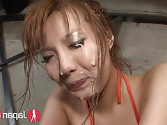 Squirt bukkake asian