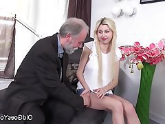 Blondine, Blowjob, Ficksahne Im Mund, Teenie