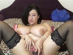 BBW, Big Boobs, Dildo, Masturbation