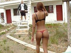 Bikini, Black, Blowjob, Ebony