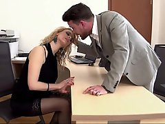 Blondine, Blowjob, Büro, Sekretärin