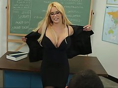 Blonde, Blowjob, Glasses, MILF