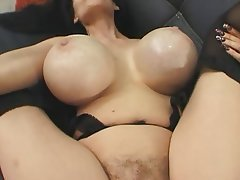 MILF, Brunette, Hairy, Big Boobs