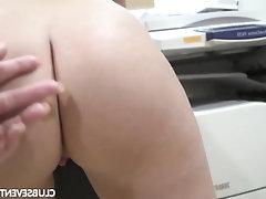 Secretary, Teen, Masturbation, Solo