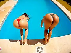 Big Boobs, Big Butts, Lesbian, Outdoor