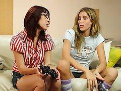 Lesbian, Blonde, Brunette, Face Sitting